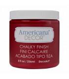 AMERICANA DECOR CHALKY ACABADO TIZA 236 ML : AMERICANA CHALKY:ADC07 ROUGE
