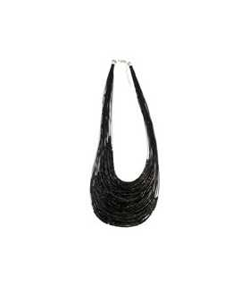 COLLAR ROCALLA MULTI HEBRAS NEGRO 43/48 CM