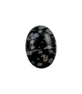 CABUCHÓN OBSIDIANA NEVADA NATURAL 25x18mm 1ud