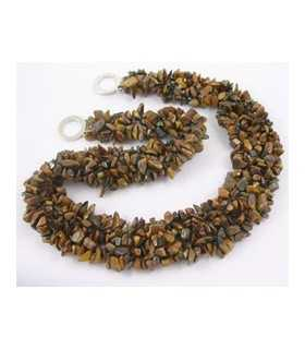 COLLAR CHIPS OJO TIGRE NATURAL 48x2-3 CM APROX