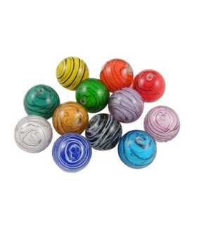 BOLAS CRISTAL LAMPWORK RAYAS 12 MM MIX 3 UD
