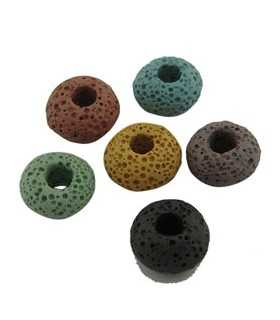 CUENTAS LAVA AGUJERO 5 MM MIX COLORES 15x9 MM 3 UD