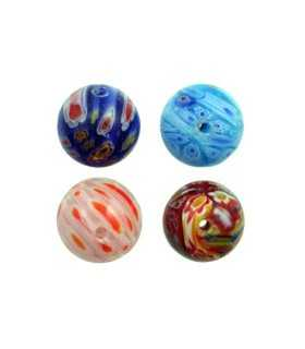 BOLA MILFLORES 14 MM AGUJERO 1 MM MIX 2 UD