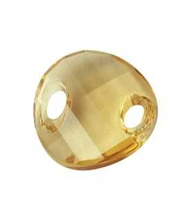 TWIST RESINA GOLDEN 18x6 MM 2 UNIDADES