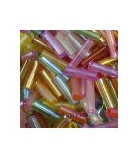 CANUTILLO 6x1,8 MM ECO MIX RAINBOW 10 GRAMOS