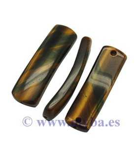 COLGANTE RECTANGULAR OJO TIGRE 36x10x4 MM