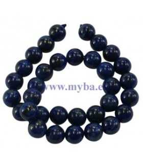 BOLA LAPIS LAZULI NATURAL 10 MM AGUJERO 1 MM 1 UD