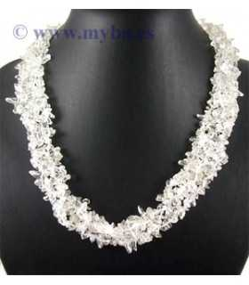 COLLAR CHIPS CUARZO NATURAL 48x2-3 CM APROX