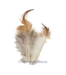PLUMAS DE GALLO 4-8 CM MARRÓN 3 GRAMOS