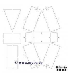 PLANTILLA CAJAS TRIANGULARES ARTEMIO 7,5x9,5x5 CM