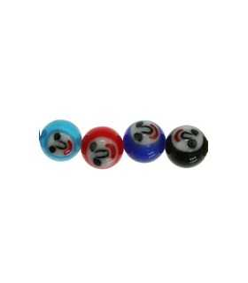 BOLA CRISTAL CARAS MIX COLORES 8 mm 5 PARES MIX