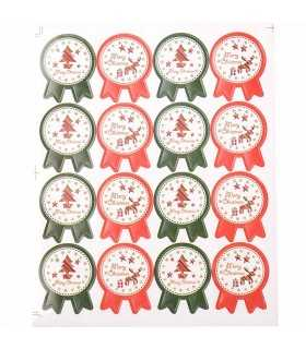 PEGATINAS RENO MERRY CHRISTMAS 2 HOJASx16 UD