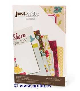 TARJETAS JOURNALING CARDS JUST WRITE 4x6 PUL 24 UD