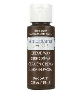 AMERICANA DECOR CERA EN CREMA MARRÓN OSCURO 59 ML