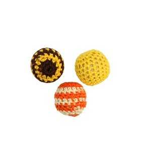BOLAS CROCHET MIX TIERRA 22 MM 3 UNIDADES