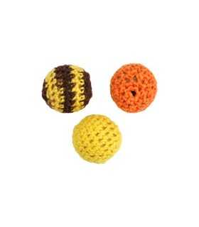 BOLAS CROCHET MIX TIERRA 18 MM 3 UNIDADES