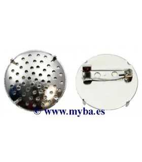 BROCHE REGADERA 2 PIEZAS 24-25 MM PLATINO 1 SET