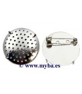 BROCHE REGADERA 2 PIEZAS 30 MM PLATINO 1 SET