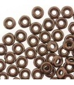 O BEADS CR.CHECO 3,8x1mm 5 GR JET BRONZE