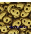 TWIN BEADS PRECIOSA 2,5x5mm 01720 GOLD 23 GR