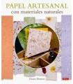 PAPEL ARTESANAL CON MATERIALES NATURALES EL DRAC