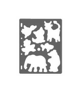 PLANTILLA SHAPE TEMPLATE FISKARS ANIMALES 21x27cm