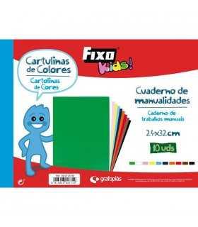 CARTULINAS DE COLORES 24x32 CM 10 UD