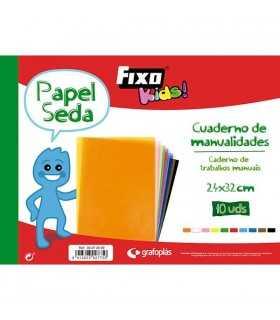 CUADERNO MANUALIDADES PAPEL SEDA 24x32 CM 10 UD