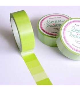 WASHI TAPE DEGRADADO VERDE LORA  15 MM x10 M