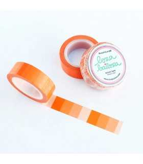 WASHI TAPE DEGRADADO NARANJA LORA  15 MM x10 M