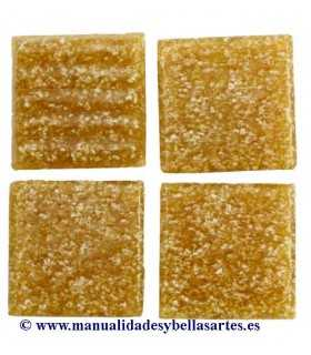 TESELAS PAST VIDRIO MARRÓN CLARO 20x20x4 MM 200 GR