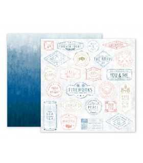 "PAPEL AMERICAN CRAFTS SWEET FREEDOM 12""x12"" 1 UD"