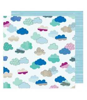 """PAPEL AMERICAN CRAFTS NUBES 12""""x12"""" 1 UD"""
