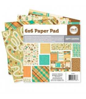 PAPEL SCRAP 1 CARA WER 36 HOJAS 6x6  HAPPY CAMPERS