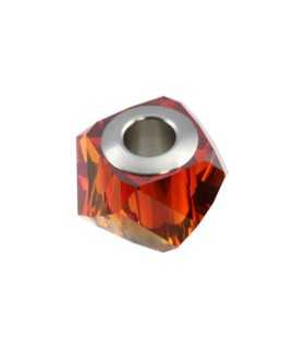 BECHARMED HELIX SWAROVSKI 14 MM CRYSTAL RED MAGMA
