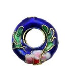 CRIOLLAS CLOISONNE 15 MM AGUJERO 2 MM 2 UD : color:Azul Oscuro