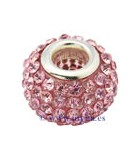 CUENTA STRASS Y RESINA 14,5x11 MM AGUJ 5 MM 1 UD : color:Rosa