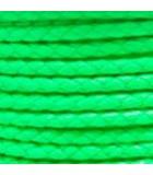 CORDÓN CUERO TRENZADO SINTÉTICO 3 MM COLOR 5 M : CUERO TRENZADO SINTÉTICO:LIME GREEN