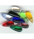 GOTAS DE CRISTAL CHECO DE 5 x 12 mm : Unidades:Envase 50 Ud aprox., color:Verde Claro