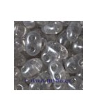 TWIN BEADS PRECIOSA 2,5x5 MM PERLADO 23 GR AP : TWIN BEADS:08149 CRY GRAY PEARL