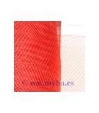 CRIN DE POLYESTER 16 CM ANCHO x 1 METRO : COLORES TOCADOS:Saffrond Red