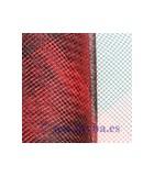 CRIN POLYESTER 2 TONOS ANCHO 16 CM x 1 METRO : CRIN 2 TONOS:Rojo y Negro