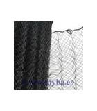 CRIN PLISADO DE POLYESTER 16 CM ANCHO x 1 METRO : COLORES TOCADOS:Black