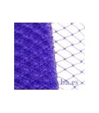 VELO PLANO ROMBO 14x10 MM APROX ANCHO 23 CMx1 M : COLORES TOCADOS:Purple