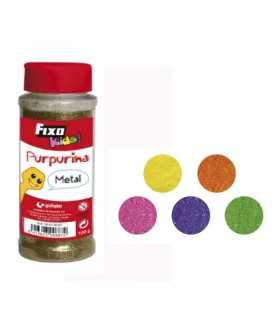 PURPURINA FIXO KIDS BOTE 100 GRAMOS COLORES FLÚOR