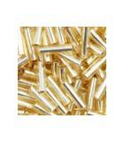 CANUTILLO MIYUKI 6 mm SILVER LINED 10 GR : MIYUKI ROCALLA:62 S.L. GOLD