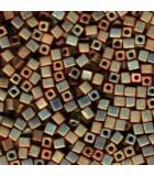 CUBOS MIYUKI  4 MM METALLIC IRIS-1 BOLSA 10 GR : MIYUKI CUBOS:2035 OP KHAKI