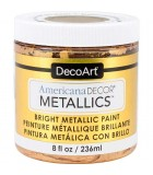 AMERICANA DECOR METALLICS 236 ML : AMERICANA DECOR METALLICS:MTL04 DORADO 24K