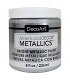 AMERICANA DECOR METALLICS 236 ML : AMERICANA DECOR METALLICS:MTL07 PLATA DE LEY