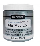 AMERICANA DECOR METALLICS 236 ML : AMERICANA DECOR METALLICS:MTL13 PLATA